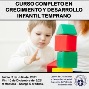 """Curso """"Crecimiento y Desarrollo Infantil Temprano"""" @ Encuentros virtuales en línea."""